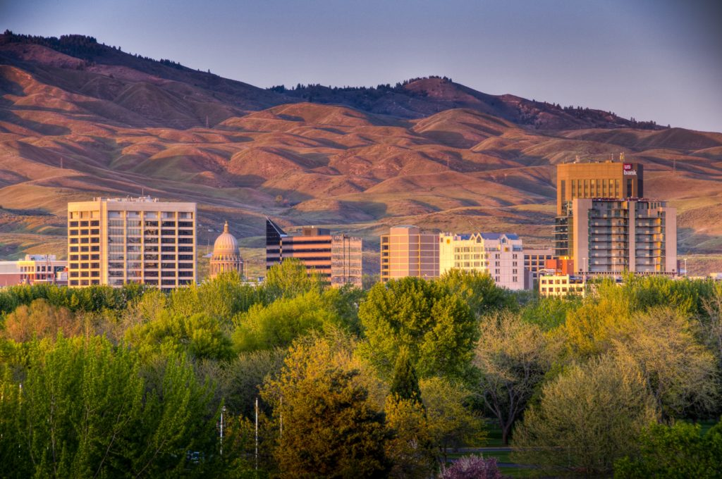 Boise looking toward the foothills.