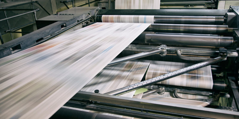 Newspapers printing in Idaho